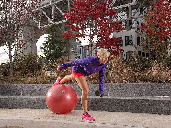 Master This Move for Toned Hamstrings: Dead Lifts with a Stability Ball from Celebrity Trainer Erin Oprea