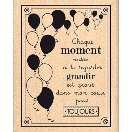 Boutique scrapbooking - Tampon Florilèges design tampon cadre ballons grandir