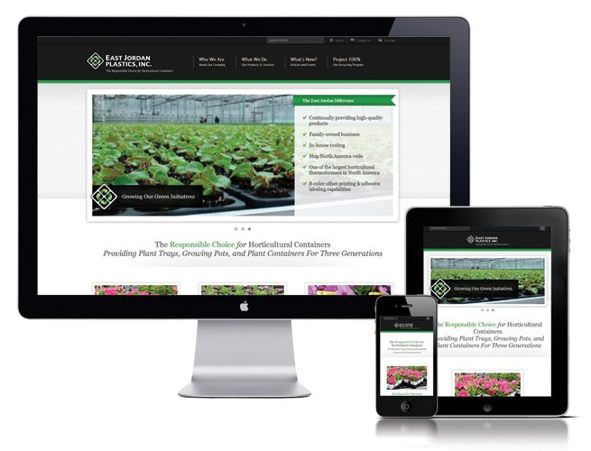 Extreme Technology created a custom website design for East Jordan Plastics. This site includes a Custom Content Management System (CMS), Responsive Design, and an interactive online catalog.