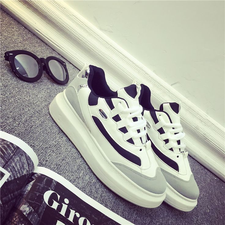 2015 Breathable White/Black Air Sneakers Women