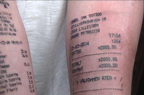 Receipt Tattoo