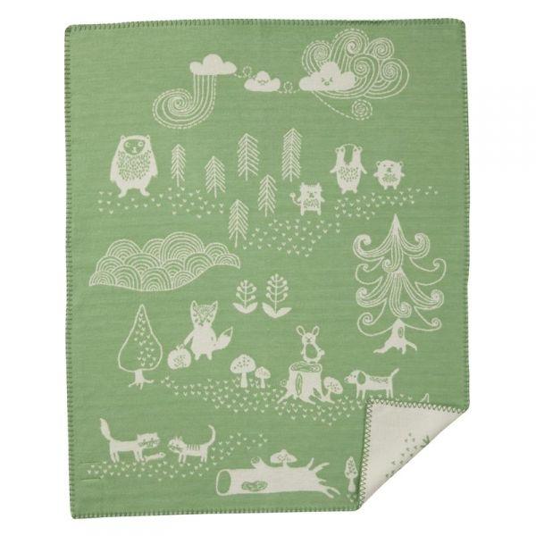 Bomullsfilt Little Bear Grön
