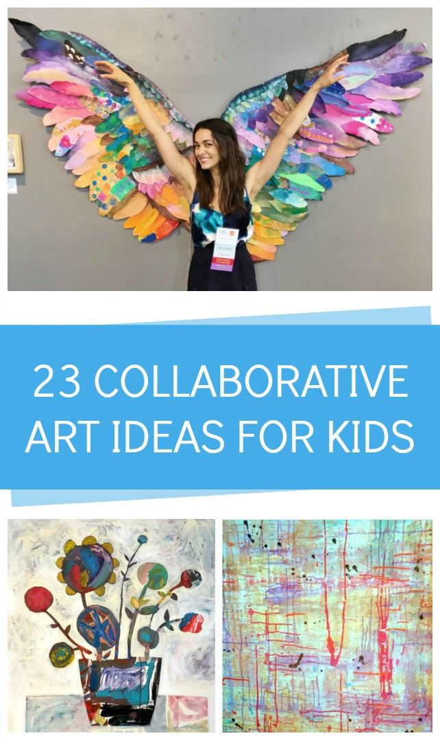 23 genius ollaborative art ideas for kids!