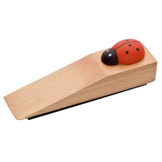 door stopper with red wood ladybug for kids turkish amulet evil eye amulet interior design beige wood door stopper beige door stopper