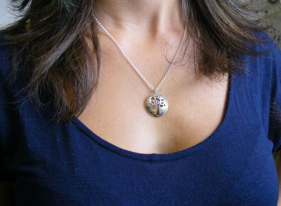 Tree of Life/Oak Tree Necklace 1 in diameter by #SlashpileDesigns