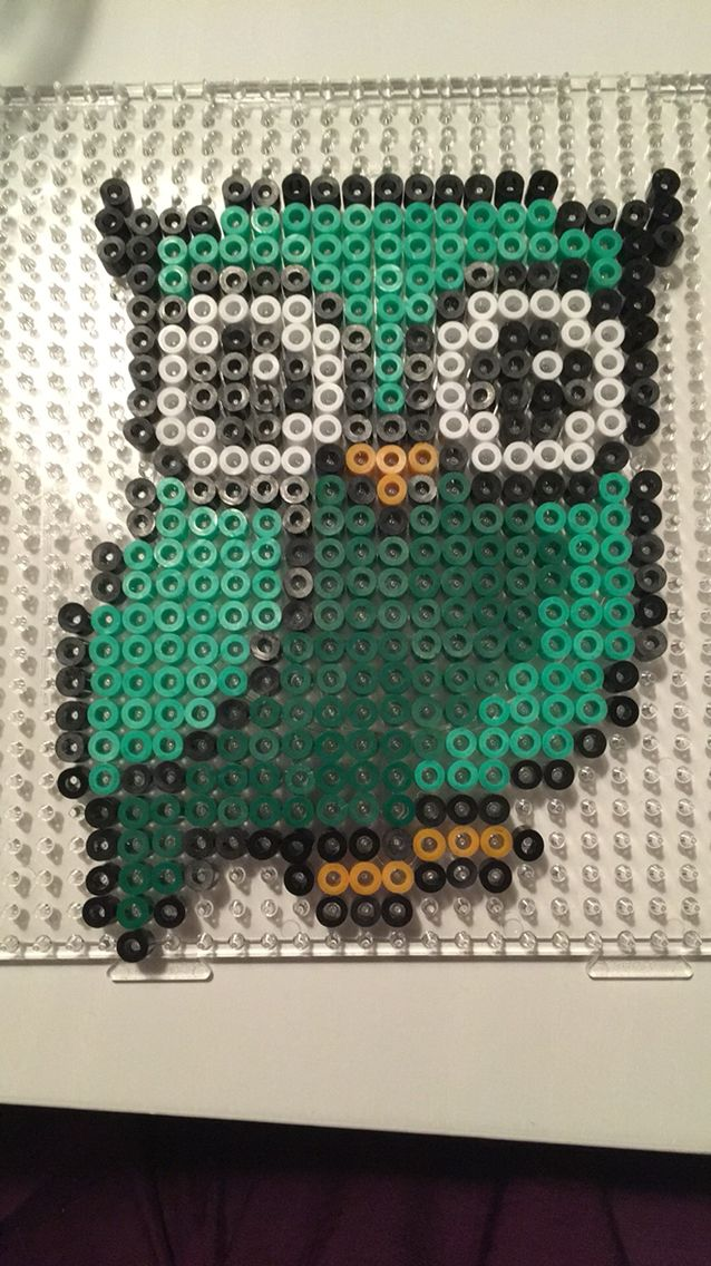 #owl #hama #green #hamaperler #perler #hamabeads #perlerbeads #beads