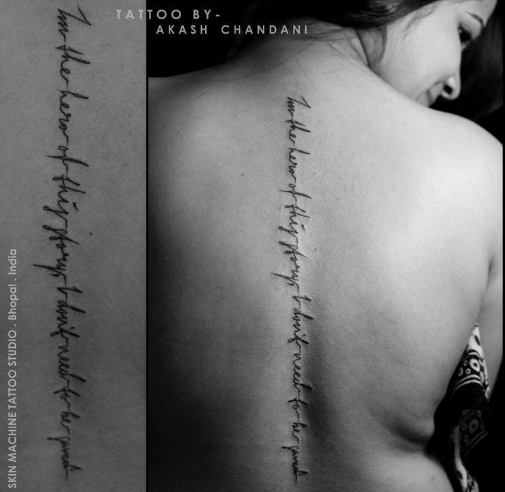 Best 25+ Spine Quote Tattoos Ideas On Pinterest