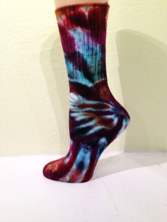 Tie-dye Socks, Bamboo Socks, Stocking Stuffer