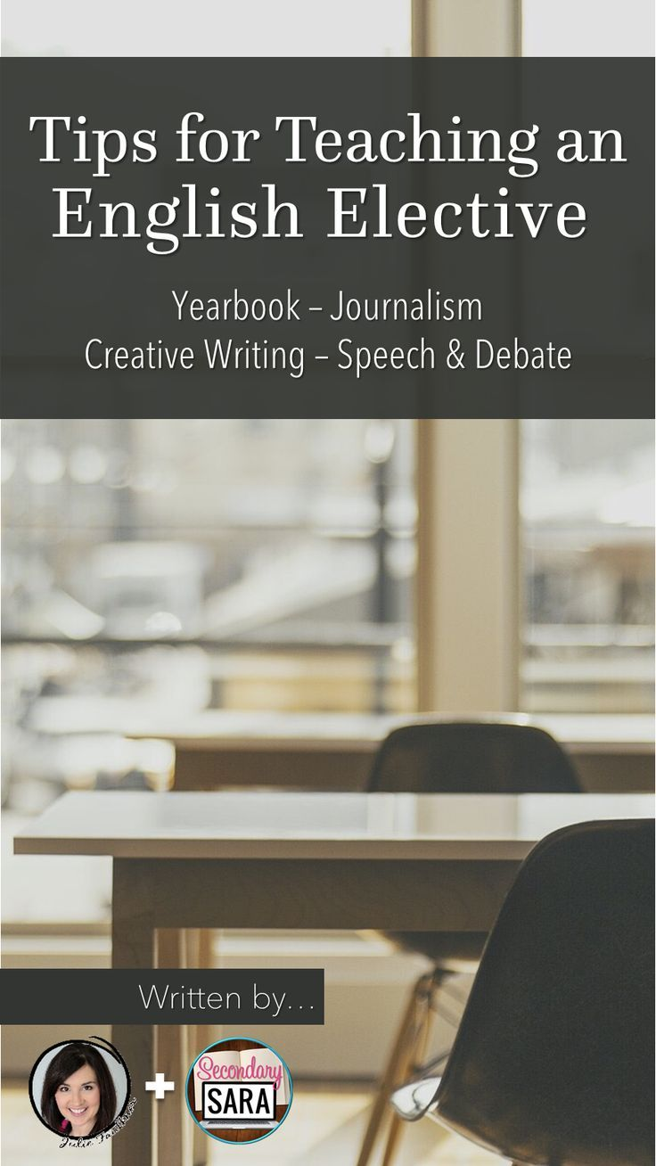 Blog post: Starter tips for English teachers who will be teaching journalism, yearbook, creative writing, or speech/debate!
