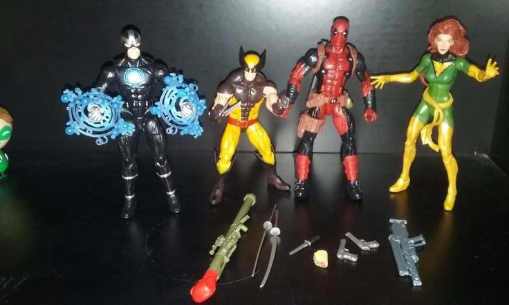 Marvel Legends 4 Figure X-men lot Deadpool Wolverine Havok Jean Gray