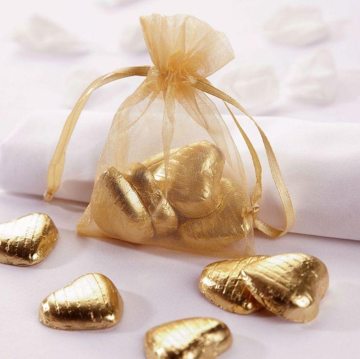 Gold Organza Bags