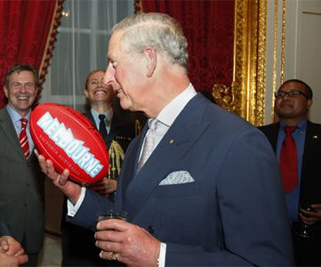 "Prince Charles couldn't give a rats toss about Aussie Rules. Yet he has been re-appointed to the role of patron by the AFL of the game in Europe on a two year deal. My palace sources tell me that on average the Prince attends just on 100 events a year and is patron of over 400 organisations. Footy is completing with known ""in crowd"" cocktail set issues"
