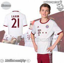 Promo:Flocage Lahm 21 Maillot Foot Bayern Munich Blanc/Bordeaux Enfant 2016-2017 Third | Maillots-Sport