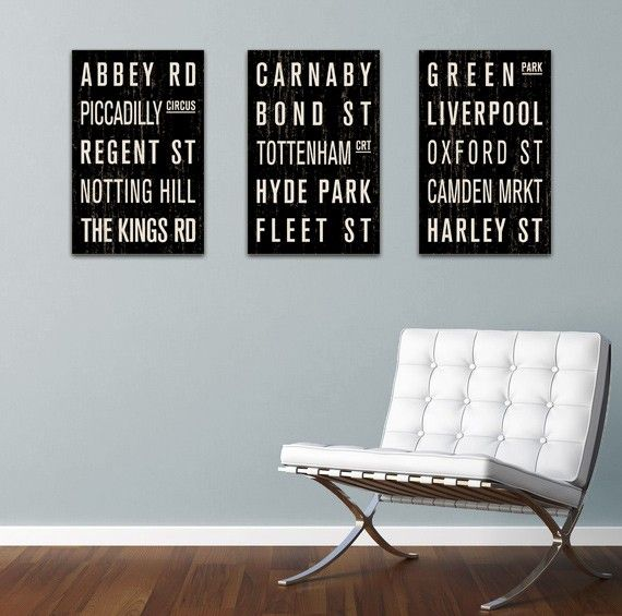 Vintage subway signs, bus scrolls and destination lists from FlyingJunction.
