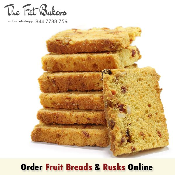 Order Fruit Breads & Rusk Online New Delhi, India from The Fat Bakers - Best Price Shop & Home Delivery Service Available. Our service areas are Kirti Nagar, Patel Nagar, Karol Bagh, Rajender Nagar, Shadipur, Narayna, Moti Nagar, Ramesh Nagar and all over Delhi.  Call or WhatsApp +91- 844 7788 756 or http://thefatbakers.com/bread-n-rusks-in-new-delhi.html