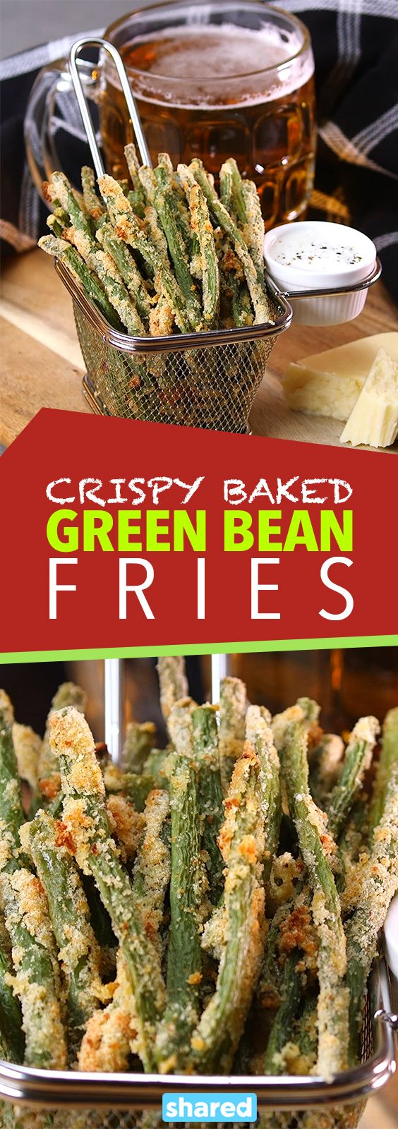 Crispy Baked Green Bean Fries | Food & Drink | Pinterest ...