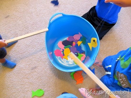 Rainbow Fish Story Craft Activity Oceans For Preschoolers Read The Make A Colorful And Go Fishing With Homemade Game