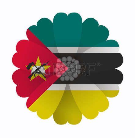 illustration of flower Flag Mozambique photo