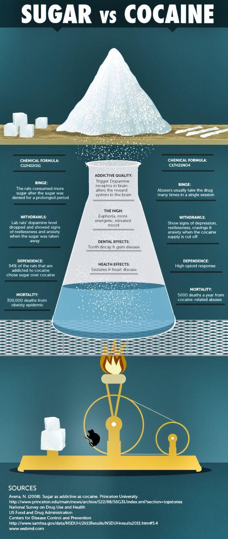 Addiction to sugar vs cocaine. Are you a sugar addict?