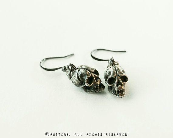"Skull - Boucles d'oreilles Format 3/8"" x 3/8"""