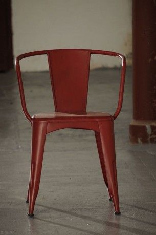 Tolix chair - handmade in England from industrial steel, heavy duty style with robust baked paint work. These look great in vintage style cafes and trendy restaurants.   We have supplied quirky hotels in Brighton with this cool range.   Make you're business stand out from the rest with our retro chairs.