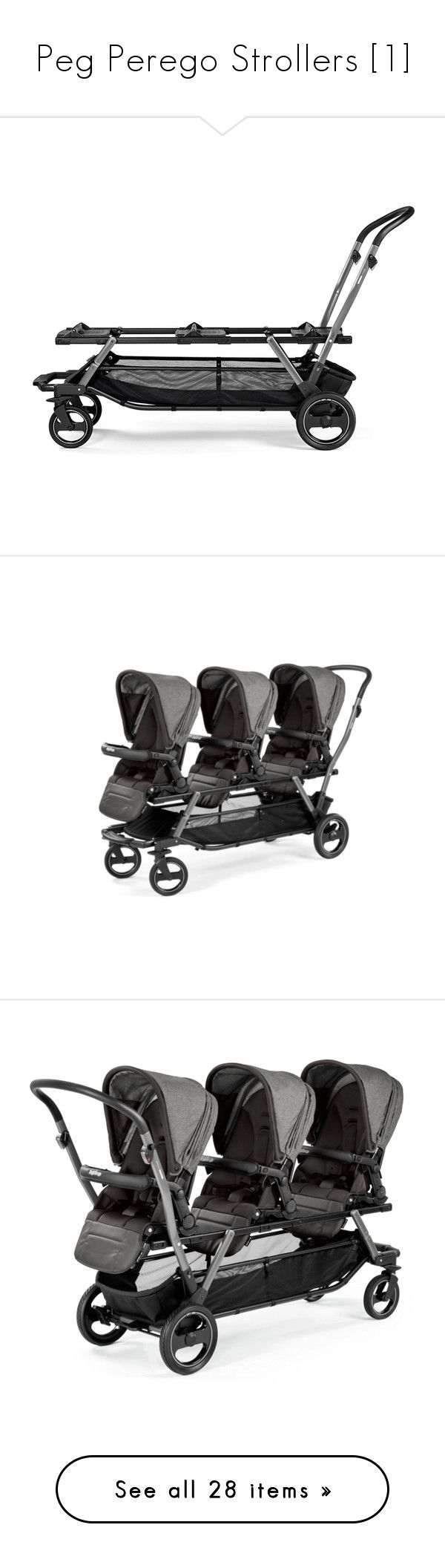 """Peg Perego Strollers [1]"" by buildyourown ❤ liked on Polyvore featuring baby, baby stuff, strollers, prams and baby accessories"
