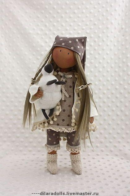 Человечки ручной работы. Ярмарка Мастеров - ручная работа текстильная кукла OLIVIA продана. Handmade.