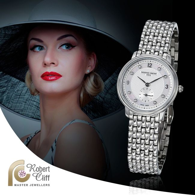 Now this is style! This @Frederique Constant Constant Ladies slimline #watch is available in the showroom now at $1400 #watch #accessory #beautiful #sale #ladies #fashion #trend #watchlover #jewellery #bracelet #promo #promotion #promotions #diamond