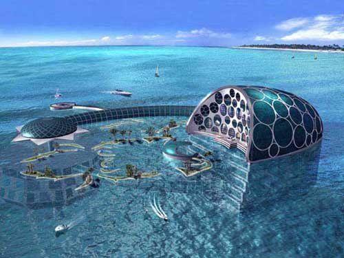 The Underwater Hotel in Dubai.