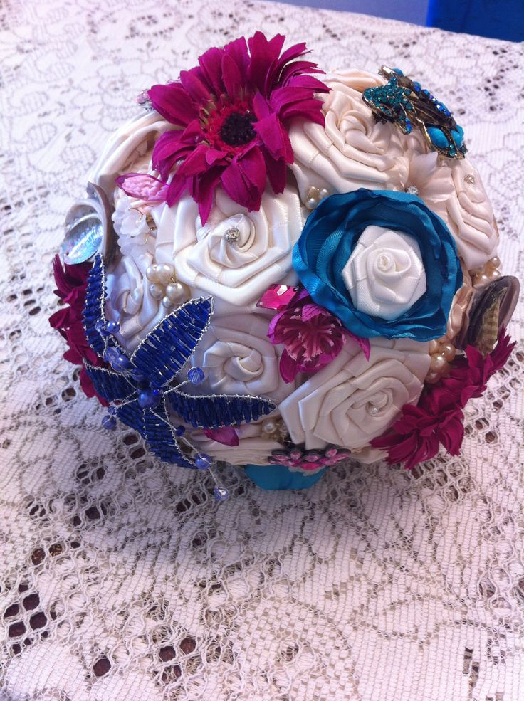 Quirky beach themed bouquet
