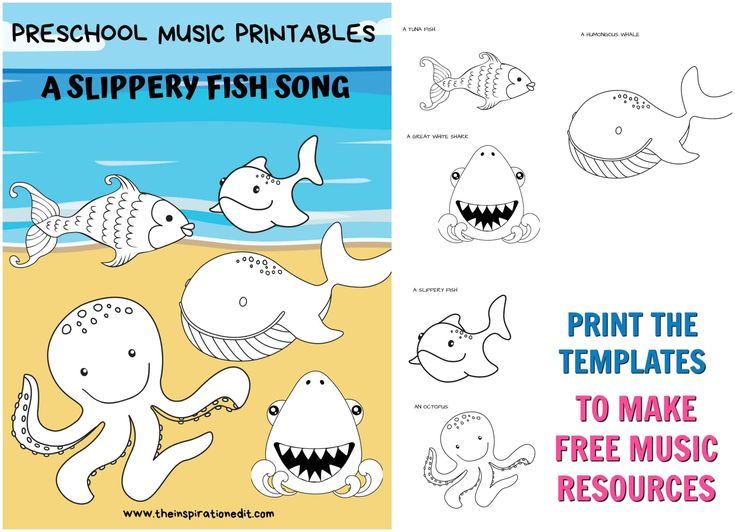 Slippery Fish Song And Fish Printables · The Inspiration ...