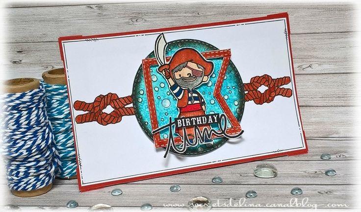 carte pirate card bulles #secretsdelina #card #cestmoiquilaifait