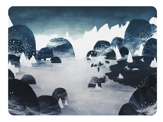 Awesome website full of illustrations/posters - Arctic Explorers by Adam Hancher