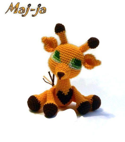 Giraffe Sun  Collectible toy  Crochet giraffe  by MajjaCrochet