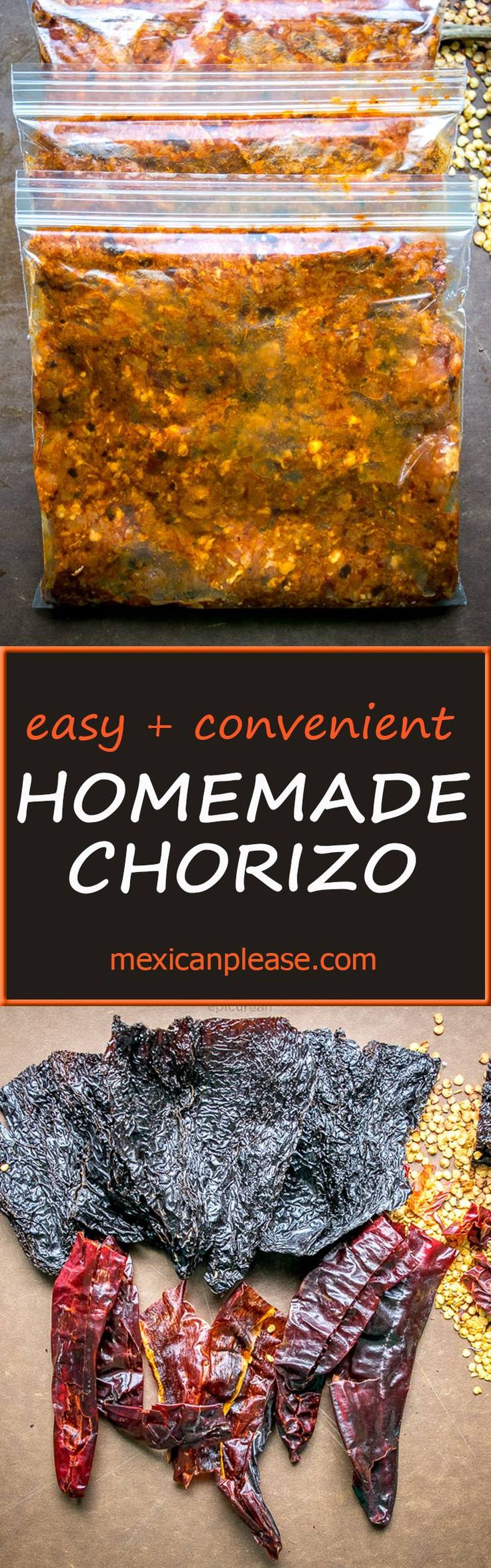 This is the express version of homemade chorizo.  All you really need is ground pork, some dried chili peppers, and a half hour.  So good!  mexicanplease.com