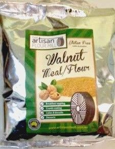 Walnut Meal, gluten free, ideal vegan/vegetarian..........Walnut Meal is gluten free, has an average 27% protein and is high in dietary fibre and low in carbohydrates making it an ideal sprinkle on your breakfast cereal or as a replacement for breadcrumbs or flour.  Use it to coat fish, rissoles or chicken or use like flour in biscuits, cakes and pancakes.