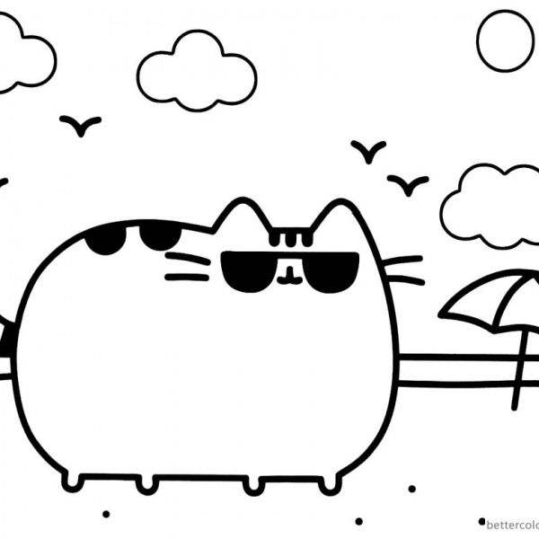 Pusheen Coloring Pages Cute Dinosaur Hat Free Printable Coloring Pages Pusheen Coloring Pages Coloring Pages Cartoon Coloring Pages