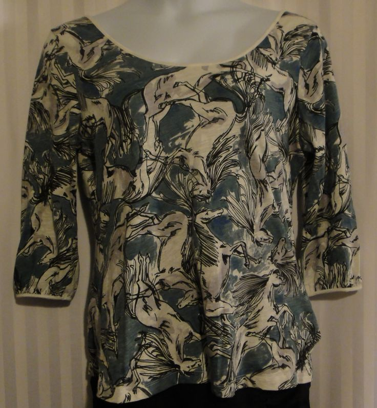 Anthropologie - Postage Mark -Horse Print Tunic available now at ChicCentSations eBay Store.