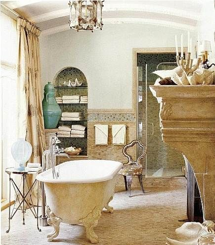 To Da Loos: Insanely Beautiful Tuscan Style Bathroom