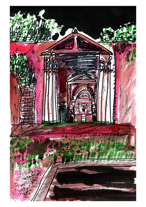 Pompeii Shrine Giclée Print A4
