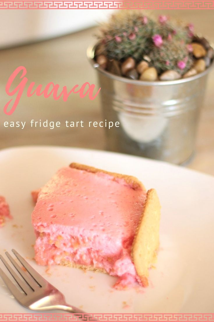 This Guava Fridge Tart is super easy to make! Don´t be surprised if you go for seconds and thene ven thirds ...