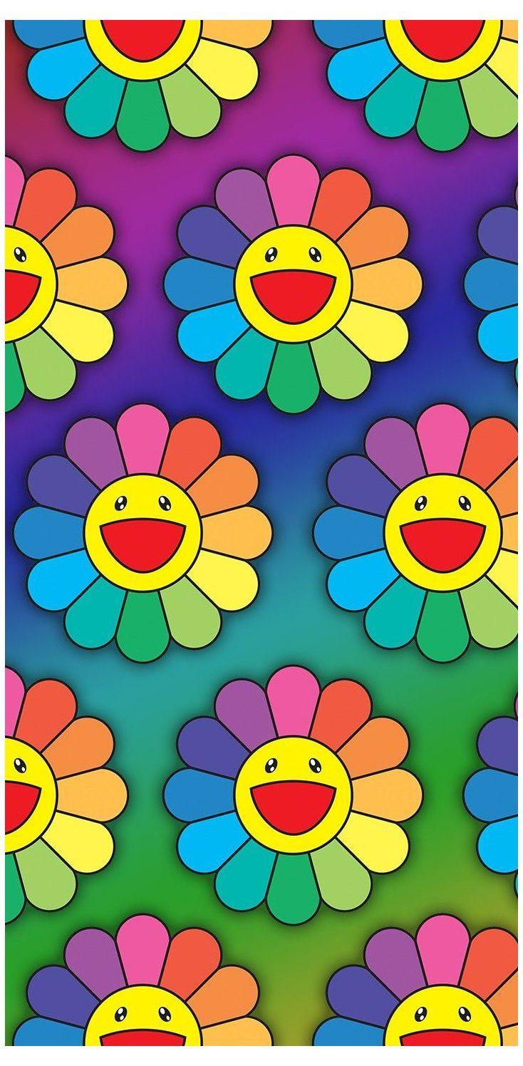 Pin By Anasilvia On Fondos De Pantalla In 2021 Flower Phone Wallpaper Murakami Flower Iphone Wallpaper Tumblr Aesthetic
