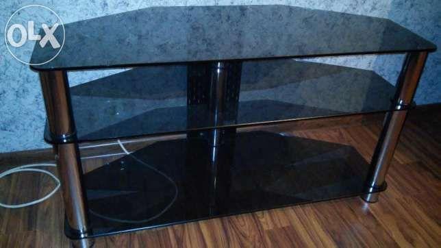 Продам стеклянную полочку под телевизор: 1 000 грн. - Мебель для гостиной Ирпень на Olx