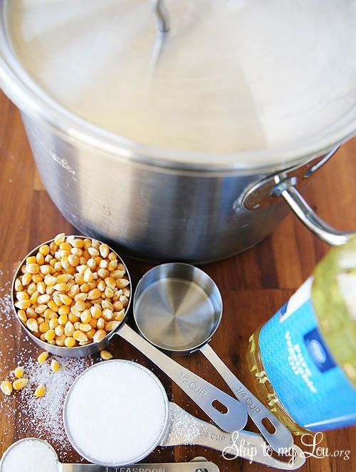 How to make homemade kettle corn popcorn. A sweet and salty snack recipe