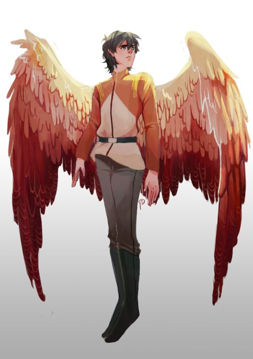 Garrison Keith, with wings. Because he's a natural flier.