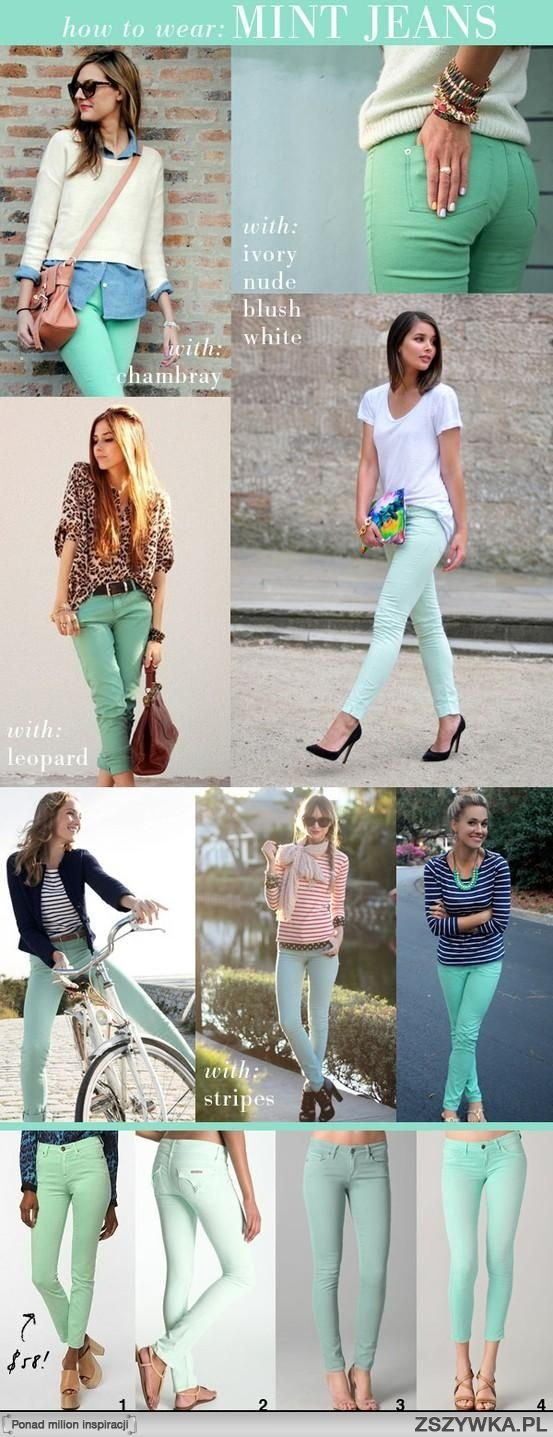 mint jeans.