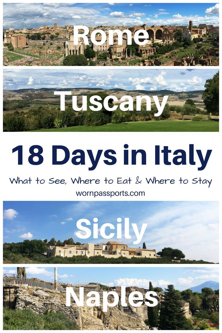 Travel guide to Italy: Sample itinerary, advice, and recommendations from real travelers. Visit the Vatican, Colosseum, Roman Forum, Roman Gladiator School, Tuscany, Montepulciano, Naples, Pompeii, Amalfi Coast, Mt. Vesuvius, Sicily, Mt. Etna, & Trapani like a pro. Guide to the best local restaurants & Airbnbs.