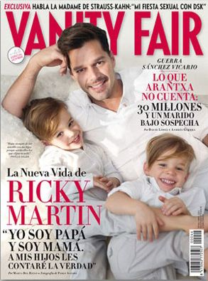 Ricky Martin on Sons Valentino and Matteo, Boyfriend Carlos, photographed for Vanity Fair by Pablo Alfaro. Long Island , NY