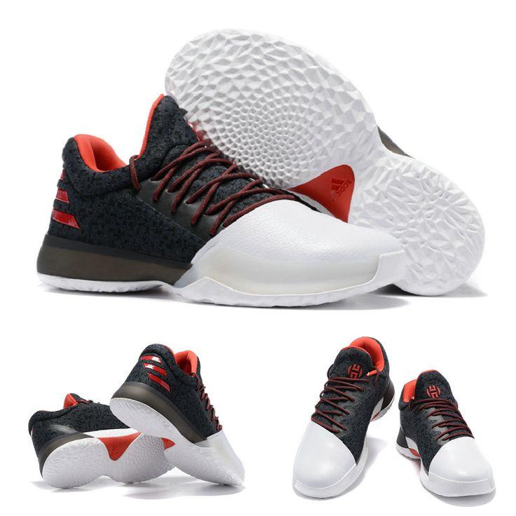 BW0546 Harden James Pioneer adidas Harden Vol. 1 Black/Scarlet/White Basketball Shoes