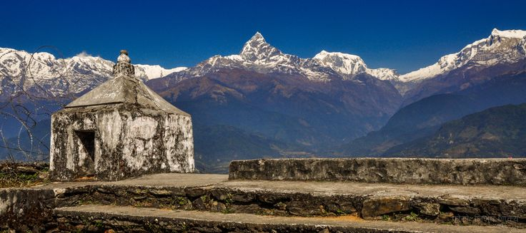 Mt. Machhapuchre (Mt. Fishtail): View from Sarangkot, Pokhara, Nepal.